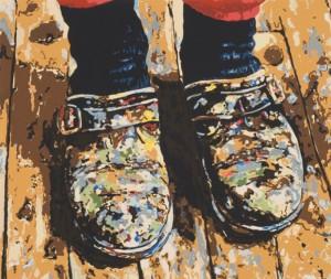 "© Joe Fig 2007, ""Inka's Shoes"", screenprint, 15.25"" x 18.25"" image, 20.75"" x 23"" sheet. Price: $1,200"