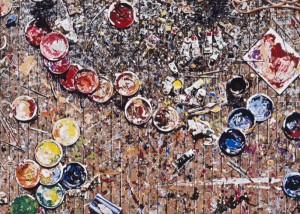 "© Joe Fig 2008, ""Inka's Floor"", screenprint, 23.5"" x 32,75"" image, 30"" x 38.75"" sheet. Price: $1,350"
