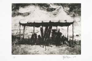 "© Steve McClure, 2006, ""Dreams or Memories? III - Rival Emperor's Tent"", photogravure, 9"" x 12"" image, 13.825"" x 16.125"" sheet. Price: $650"