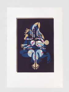 "© Ryan McGinness 2015, ""Mother & Child"" (Monoprint #31), unique screenprint monoprint, 60"" x 42."" Current price: $9,000"