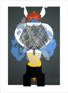 "© Carrie Moyer, 2009, ""Elixir,"" screenprint with glitter flocking, 25.75"" x 17"" image, 30"" x 21.25"" sheet.  Price: $800"