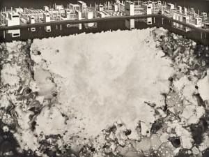 "© Michael Schall 2008, ""The Accident,"" etching, aquatint, screenprint, monoprint, 18"" x 24"" image, 23.25"" x 28.75"" sheet. Price: $1,000"