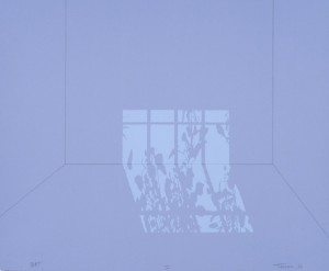 "© Mary Temple, 2006.""Light Describing a Room in Four Parts"" (part I)Suite of four screenprints, 18"" x 22"" each. Not available."