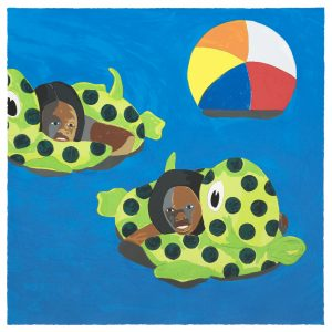 "© Derrick Adams 2017, ""Turtle Floats,"" screenprint, 30"" x 30"" image and sheet, edition of 12. Price: $3,500"