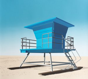 Lookout, Huntington Beach, CA, Screenprint, 21.75 x 24.5 inches (55.2 x 62.2 cm) image and sheet, edition of 8. Price: $1,600.