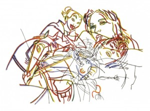 "© Ghada Amer, 2002, ""Sleeping Beauty Without the Castles"". Screenprint,  22.25"" x 28.75"".  Price: $1,000"