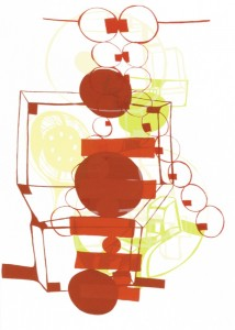"© Joanne Greenbaum, 2002, ""Untitled Outtakes #3."" Screenprint, 42.5"" x 30.25"" image and sheet. Price: $1,200"