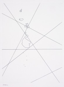 """© Marie Jager 2010, """"Time Islands: Noon,"""" etching, 12"""" x 9"""" plate, 17"""" x 13"""" sheet, edition of 3. Price: $3,000 for the suite of four"""