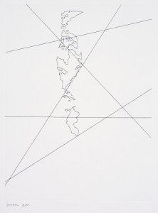 """© Marie Jager 2010, """"Time Islands: Seven AM,"""" etching, 12"""" x 9"""" plate, 17"""" x 13"""" sheet, edition of 3. Price: $3,000 for the suite of four"""