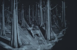 "© Hong Seon Jang 2012, ""Black Forest,"" screenprint, 13.75"" x 21"", 18"" x 25"", edition of 12. Price: $900"