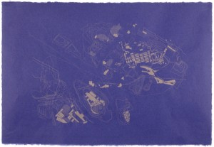 "© Geraldine Lau, 2003, ""Information Retrieval #79 (Buttermilk Channel)."" Screenprint, 25.25"" x 37.25."" Price: $400"