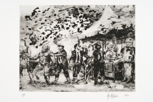"""© Steve McClure, 2006, """"Dreams or Memories? IV - In the Rival Emperor's Tent"""", photogravure, 9"""" x 12"""" image, 13.825"""" x 16.125"""" sheet. Price: $650"""