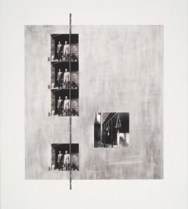 """© Steven Millar 2013, """"Elegy,"""" archival inkjet, screenprint, and collage, 20.75"""" x 18.75"""" image and sheet, edition of 6. Price: $750"""