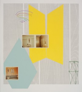 """© Steven Millar 2013, """"Glimpse,"""" archival inkjet, relief, collage, and screenprint, 22"""" x 19.5"""" image, 27"""" x 23.5"""" sheet, edition of 6. Price: $900"""