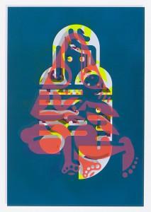 "© Ryan McGinness 2015, ""Mother & Child"" (Monoprint #4), unique screenprint monoprint, 60"" x 42."" Current price: $9,000"