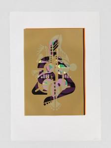"© Ryan McGinness 2015, ""Mother & Child"" (Monoprint #11), unique screenprint monoprint, 60"" x 42."" Current price: $9,000"