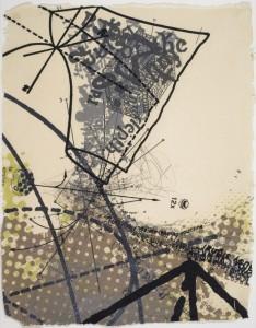 "© David Opdyke 2011, ""Dada Data Mine,"" screenprint on banana paper, 35"" x 27.5"" image and sheet, edition of 14. Price:$1,200"