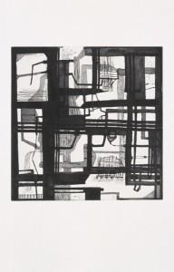 "© Sheila Pepe, 2004, ""Near Quadrozzi Concrete & 9th St. Bridge"". Intaglio print, 14.5"" x 14.25"" image, 30.75"" x 22.50"" sheet.Price: $500"