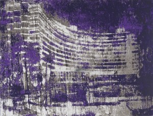 "© Enoc Perez 2014, ""Fontainebleau, Miami,"" screenprint on mirrored paper, 22.5"" x 29.75,""edition of 50. Price: $2,000"
