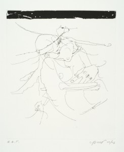 "© Chloe Piene, 2006, ""Big Hands,"" etching and aquatint, 11.75"" x 10"" image, 17.75"" x 16"" sheet.  Price: $1,500"