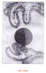 "© Amy Sillman & Jef Scharf, 1999, ""Funny-Guy, Junior: aether"".  Portfolio of 12 intaglio prints with screenprinted text,  11"" x 9"" each sheet, 11.5"" x 9.5"" x .5"" portfolio.  Price:  $1,500 full portfolio."
