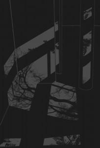 "© Mary Temple 2006, ""Light Describing a Room (Dark)"", screenprint, 44.25"" x 30.25"" image and sheet.  Price: $2,000"