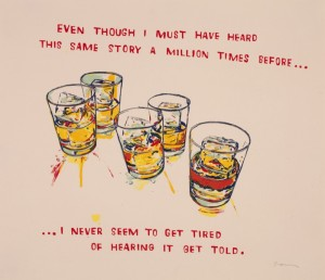 "© David Kramer 2012, ""A Million Times,"" screenprint, unique, 19.5"" x 22.75"" image and sheet. Price: $1,700"