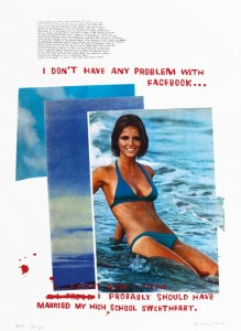 "© David Kramer 2012, ""Cheryl,"" screenprint, archival inkjet, collage, edition of 14, 30"" x 22"" image and sheet. Price: $1,700"