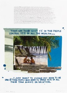 "© David Kramer 2012, ""Mexico,"" screenprint, archival inkjet, collage, edition of 14, 30"" x 22"" image and sheet. Price: $1,700"