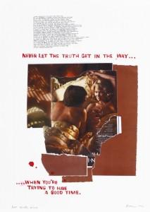 "© David Kramer 2012, ""Winter Wines,"" screenprint, archival inkjet, collage, edition of 14, 30"" x 22"" image and sheet. Price: $1,700"