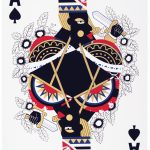 """Derrick Adams. """"Game Changing (Ace),"""" 2015.  Screenprint and gold leaf. 30"""" x 22"""" image and sheet. Edition of 16.  SOLD"""