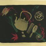 "Tomie Arai. ""Tea/Time,"" 1996.  Screenprint. 12.5"" x 16"" image, 14.75"" x 19"" sheet. Edition of 172.  List price: $400; Sale price: $200 / $350 framed."