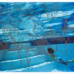 """Sebastiaan Bremer. """"Aquarium = Blue,"""" 2006. Archival inkjet and etching. 11"""" x 17"""" image, 17.5"""" x 23"""" sheet. Edition of 20.  List price: $3000; Sale price: $2,000 / $2,200 framed."""