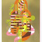 "Ryan McGinness. ""Mother & Child (Monoprint #1),"" 2015.  Screenprint. 40.5"" x 27.75"" image, 60"" x 42"" sheet. Series of 50 unique monoprints. SOLD"