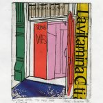"Jelena Jocić. ""The Red Door,"" 1999.  Etching, chine collé. 5.5"" x 4.75"" image, 6.25"" x 8"" sheet.  SOLD"